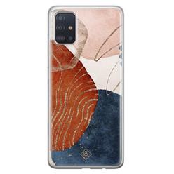 Casimoda Samsung Galaxy A71 siliconen hoesje - Abstract terracotta