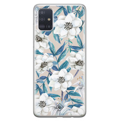 Casimoda Samsung Galaxy A71 siliconen hoesje - Touch of flowers