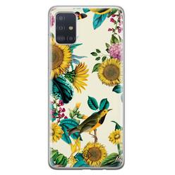Casimoda Samsung Galaxy A71 siliconen hoesje - Sunflowers