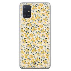 Casimoda Samsung Galaxy A71 siliconen hoesje - Yellow garden