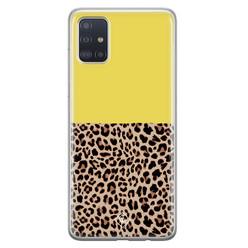 Casimoda Samsung Galaxy A71 siliconen hoesje - Luipaard geel