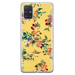 Casimoda Samsung Galaxy A71 siliconen hoesje - Floral days
