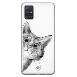 Casimoda Samsung Galaxy A71 siliconen hoesje - Peekaboo