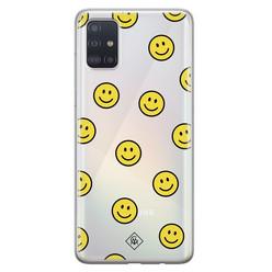 Casimoda Samsung Galaxy A71 siliconen hoesje - Smileys