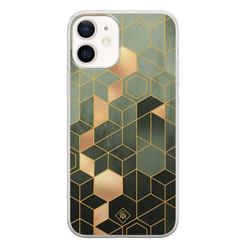 Casimoda iPhone 12 siliconen hoesje - Kubus groen