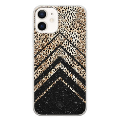 Casimoda iPhone 12 siliconen hoesje - Chevron luipaard