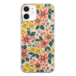 Casimoda iPhone 12 siliconen hoesje - Blossom