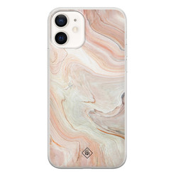 Casimoda iPhone 12 siliconen hoesje - Marmer waves