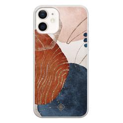 Casimoda iPhone 12 siliconen hoesje - Abstract terracotta