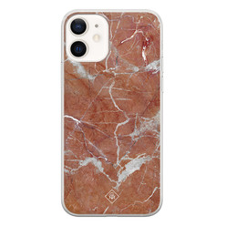 Casimoda iPhone 12 siliconen hoesje - Marble sunkissed