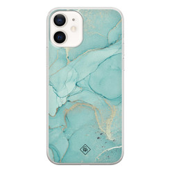 Casimoda iPhone 12 siliconen hoesje - Touch of mint