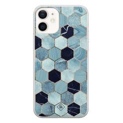 Casimoda iPhone 12 siliconen hoesje - Blue cubes