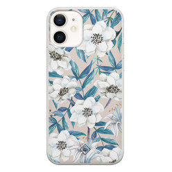 Casimoda iPhone 12 siliconen hoesje - Touch of flowers