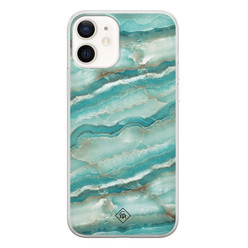 Casimoda iPhone 12 siliconen hoesje - Mamer azuurblauw