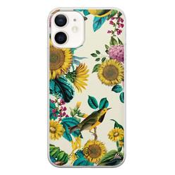 Casimoda iPhone 12 siliconen hoesje - Sunflowers