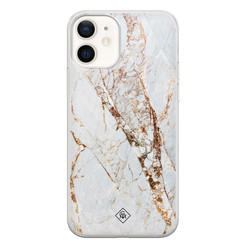 Casimoda iPhone 12 siliconen hoesje - Marmer goud