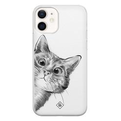 Casimoda iPhone 12 siliconen hoesje - Peekaboo
