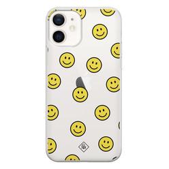 Casimoda iPhone 12 siliconen hoesje - Smileys