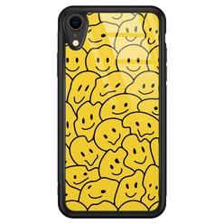 Casimoda iPhone XR glazen hoesje - Hardcase met foto
