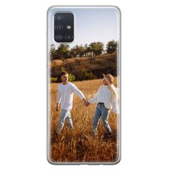 Samsung Galaxy A51 siliconen hoesje - Softcase met foto