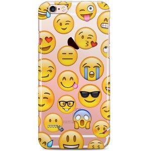 iPhone 6/6S siliconen hoesje - Emoji smileys mix 2
