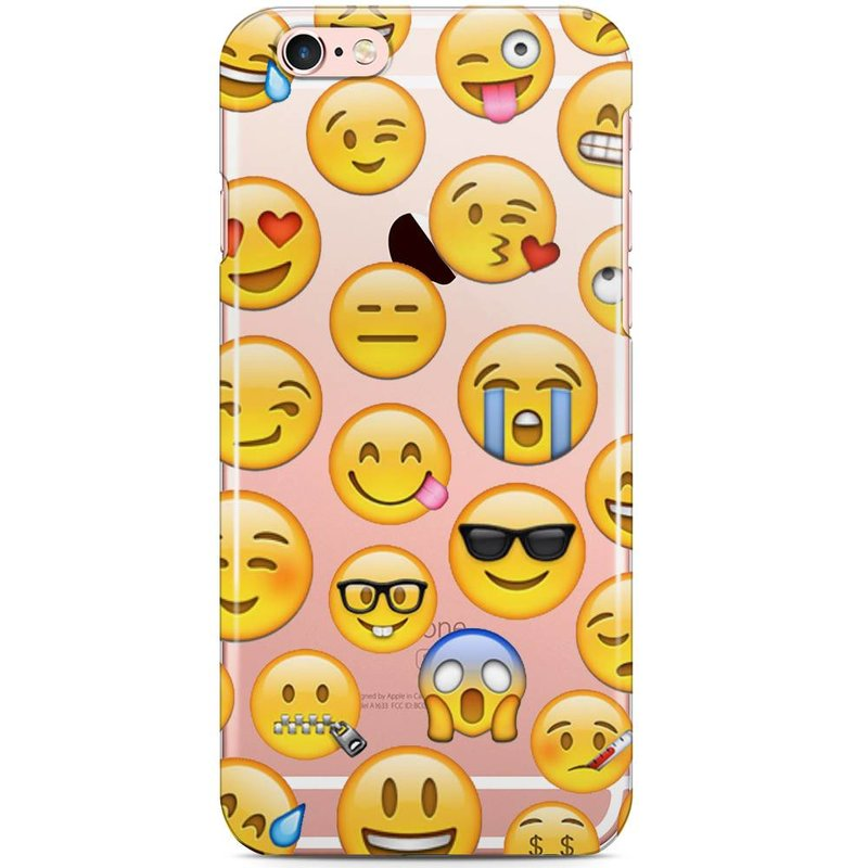 iPhone 6/6S siliconen hoesje - Emoji smileys mix 2