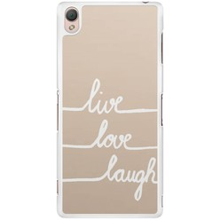 Sony Xperia Z3 hoesje - Live, love, laugh
