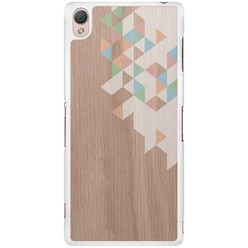 Sony Xperia Z3 hoesje - Geo blocks on wood
