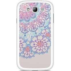 Samsung Galaxy Grand (Neo) hoesje - Red & blue floral