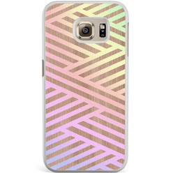 Samsung Galaxy S6 Edge hoesje - Holographic wood