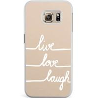 Samsung Galaxy S6 Edge hoesje - Live, love, laugh