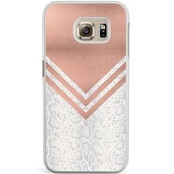 Casimoda Samsung Galaxy S6 Edge hoesje - Rose gold snake
