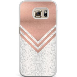 Samsung Galaxy S6 Edge hoesje - Rose gold snake
