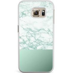 Samsung Galaxy S6 Edge hoesje - Minty marble