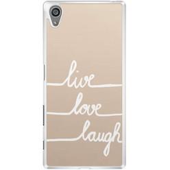 Sony Xperia Z5 hoesje - Live, love, laugh