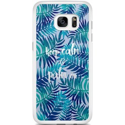 Samsung Galaxy S7 Edge hoesje - Keep calm and palm on