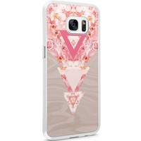 Samsung Galaxy S7 Edge hoesje - Floral wood