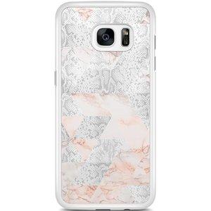 Samsung Galaxy S7 Edge hoesje - Snake art