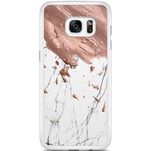 Samsung Galaxy S7 Edge hoesje - Marble splash