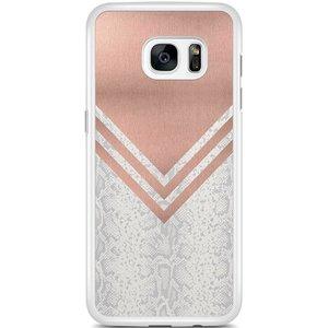 Samsung Galaxy S7 Edge hoesje - Rose gold snake