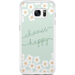 Samsung Galaxy S7 Edge hoesje - Choose happy