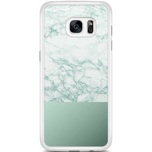 Samsung Galaxy S7 Edge hoesje - Minty marble