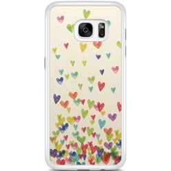 Samsung Galaxy S7 Edge hoesje - Hartjes