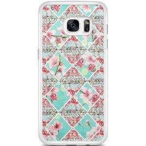 Samsung Galaxy S7 Edge hoesje - Aztec roze