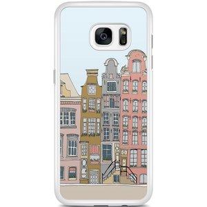 Samsung Galaxy S7 Edge hoesje - Amsterdam grachtenpanden