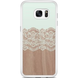 Samsung Galaxy S7 Edge hoesje - Mint wood