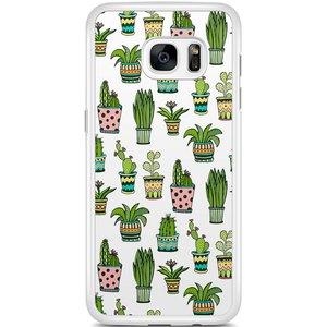 Samsung Galaxy S7 Edge hoesje - Cactussen