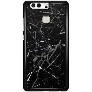 Huawei P9 hoesje - Marmer zwart