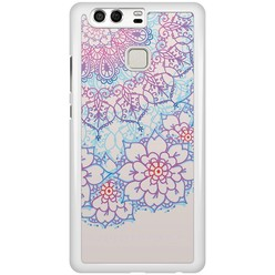 Huawei P9 hoesje - Red & blue floral