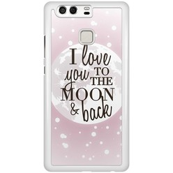 Huawei P9 hoesje - I love you to the moon and back